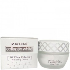 3W CLINIC Collagen whitening cream - Крем для лица осветляющий с коллагеном 60мл