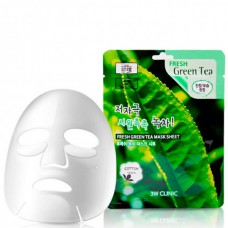 3W CLINIC Fresh green tea mask sheet - Маска тканевая с экстрактом зеленого чая 23мл