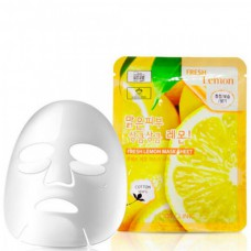 3W CLINIC Fresh lemon mask sheet - Маска тканевая для лица лимон 23мл