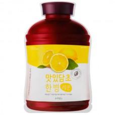 A`PIEU Fruit vinegar sheet mask LEMON - Маска тканевая с экстрактом ЛИМОН 20гр