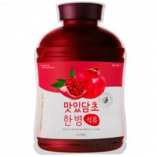 A`PIEU Fruit vinegar sheet mask POMEGRANATE - Маска для лица тканевая ГРАНАТ 20гр