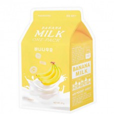 A`PIEU MILK one-pack Banana - Маска тканевая с экстрактом банана 21гр