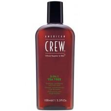 AMERICAN CREW 3-IN-1 TEA TREE - Средство по Уходу за Волосами и Телом на Основе Чайного Дерева 3 в 1, 100мл