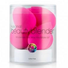 beautyblender original + solid blendercleanser - Спонж для макияжа РОЗОВЫЙ и мыло для очистки 6шт + 30гр