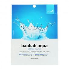 BERGAMO Mask pack baobab aqua - Маска тканевая для лица с экстрактом баобаба 28мл