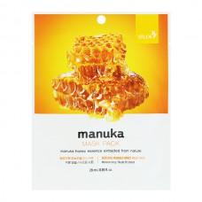BERGAMO Mask pack manuka - Маска тканевая для лица с МЁДОМ МАНУКИ 28мл