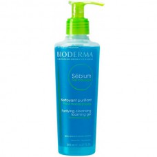 BIODERMA Sebium Gel Moussant - Гель-мусс для жирной и проблемной кожи Очищающий (с помпой) 200мл