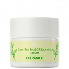 CELRANICO Green Tea Seed Oil Balancing CREAM - Антиоксидантный крем с зелёным чаем 50мл