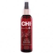 CHI Rose Hip Oil Repair & Shine Leave-In Tonic - Несмываемый спрей с маслом розы и кератином 118мл