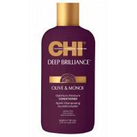 CHI Deep Brilliance Olive & Monoi Optimum Moisture Conditioner - Кондиционер для поврежденных волос 355мл