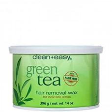 """clean+easy Warm Wax Green tea - Тёплый воск в банке """"Зеленый чай"""" с Алоэ БИКИНИ 396гр"""