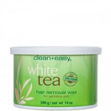 """clean+easy Warm Wax White tea - Тёплый воск в банке """"Белый чай"""" (для чувствительной кожи), 396гр"""