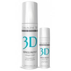 Collagene 3D Cream EXPRESS PROTECT - ПРОФ Крем для лица с софорой японской, профилактика купероза, устранение темных кругов и отечности 150мл