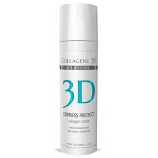 Collagene 3D Cream EXPRESS PROTECT - ПРОФ Крем для лица с софорой японской, профилактика купероза, устранение темных кругов и отечности 30мл