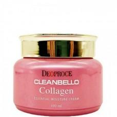 Deoproce Cleanbello collagen essential moisture cream - Крем для лица с коллагеном 100мл