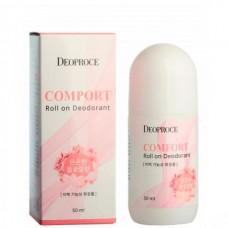 Deoproce Comfort roll on deodorant - Дезодорант шариковый комфортный 50мл