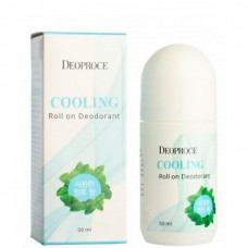 Deoproce Cooling roll on deodorant - Дезодорант шариковый охлаждающий 50мл