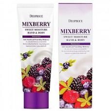 Deoproce Mixberry sweet moisture hand and body - Питательный крем для рук и тела лесные ягоды 100мл
