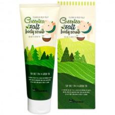 Elizavecca Greentea salt body scrub - Скраб для тела с экстрактом зеленого чая 300гр