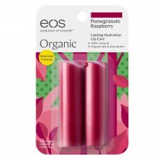 EOS Stick Lip Balm Pomegranate Raspberry - НАБОР Бальзам для губ Гранат и Малина (форма помады) 2 х 4гр