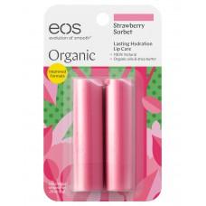 EOS Stick Lip Balm Strawberry Sorbet - НАБОР Бальзам для губ КЛУБНИКА (форма помады) 2 х 4гр