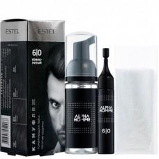 Estel Alpha Homme - Набор для камуфляжа волос 6/0 Тёмно-русый 10мл + 10мл + перчатки