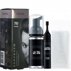 Estel Alpha Homme - Набор для камуфляжа волос 7/0 Русый 10мл + 10мл + перчатки