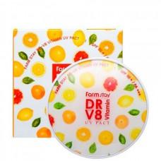 FarmStay DR-V8 vitamin UV pack SPF50+/PA+++ - Пудра компактная с витаминами №23 НАТУРАЛЬНЫЙ БЕЖ 12гр + запасной блок