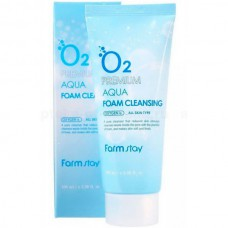 FarmStay O2 Premium aqua foam cleansing - Пенка очищающая с кислородом 100мл