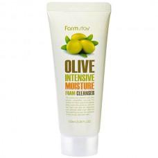 FarmStay Olive intensive moisture foam cleans - Пенка очищающая с экстрактом оливы 100мл