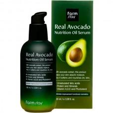 FarmStay Real avocado nutrition oil serum - Сыворотка питательная с маслом авокадо 100мл