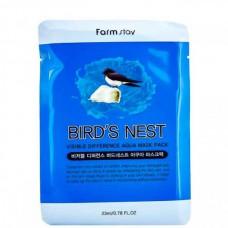 FarmStay Visible difference birds nest aqua - Маска тканевая с экстрактом ласточкиного гнезда 23мл