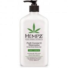 HEMPZ HERBAL Body Moisturizer Fresh Coconut & Watermelon - Молочко для тела увлажняющее Кокос и Арбуз 500мл