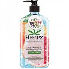 HEMPZ HERBAL Body Cream Triple Moisture - Молочко увлажняющее для тела Тройное увлажнение 500мл