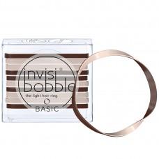 Invisibobble BASIC Mocca & Cream - Резинка для волос цвет Кофейно-молочный 10шт