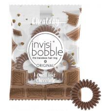 Invisibobble Cheat Day Crazy For Chocolate - Ароматизированная резинка-браслет для волос, цвет Шоколадный 3шт
