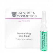 JANSSEN Cosmetics Ampoules Normalizing Fluid - Янссен Нормализующий Концентрат для Ухода за Жирной Кожей 7 х 2мл