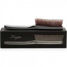 Majestic Graphite - Инновационная универсальная расчёска ЧЁРНАЯ для волос любого типа 568 зубчиков