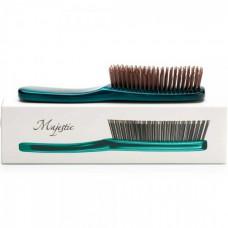 Majestic Green - Инновационная универсальная расчёска ЗЕЛЁНАЯ для густых и жёстких волос 568 зубчиков