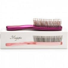 Majestic Fuchsia - Инновационная универсальная расчёска РОЗОВАЯ для тонких ослабленных волос и чувствительной кожи головы 372 зубчиков