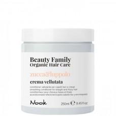 Nook Beauty Family Zucca & Luppolo Crema Vellutata - Крем-кондиционер разглаживающий для прямых и вьющихся волос 250мл