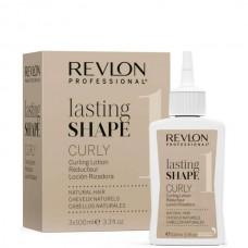 REVLON Professional lasting SHAPE Curly Lotion 1 - Лосьон для химической завивки для нормальных волос 3 х 100мл