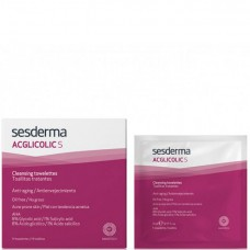 Sesderma ACGLICOLIC S Cleansing towelettes - Очищающие салфетки 14шт
