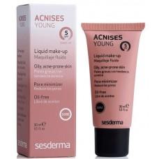 Sesderma ACNISES YOUNG Liquid make-up SPF 5 - Жидкий тональный крем с СЗФ 5 (Тёмный тон) 30мл