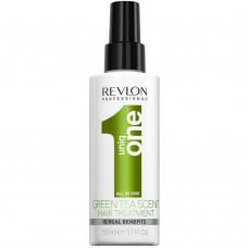 Uniq One All In One HAIR TREATMENT GREEN TEA SCENT Spray - Несмываемая маска-спрей с ароматом Зелёного чая 150мл